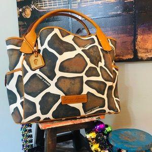 DOONEY & BOURKE Large Brown Giraffe Kristine Tote
